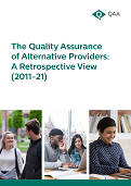The quality assurance of alternative providers- a retrospective view (2011-2021) thumbnail